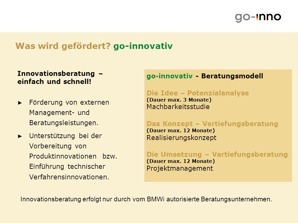 Was wird gefördert go-innovativ