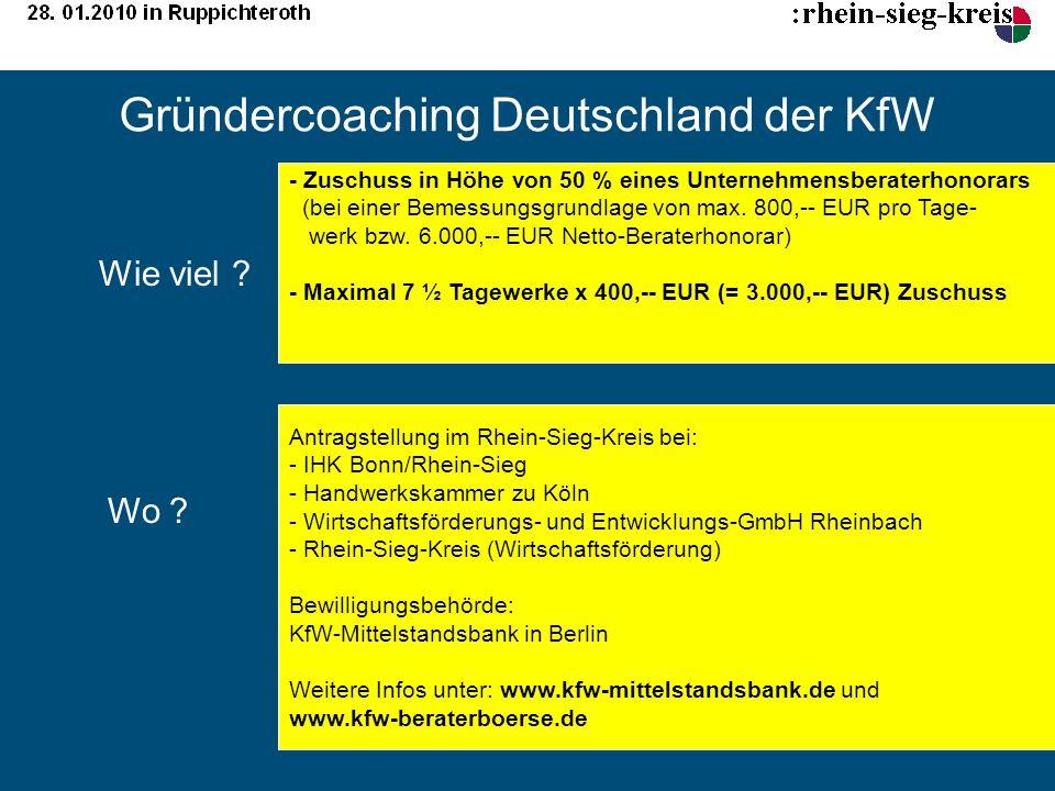 Gründercoaching Deutschland der KfW