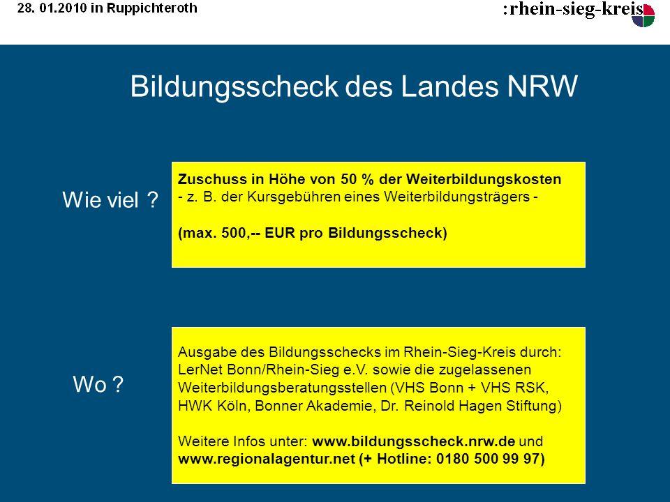 Bildungsscheck des Landes NRW
