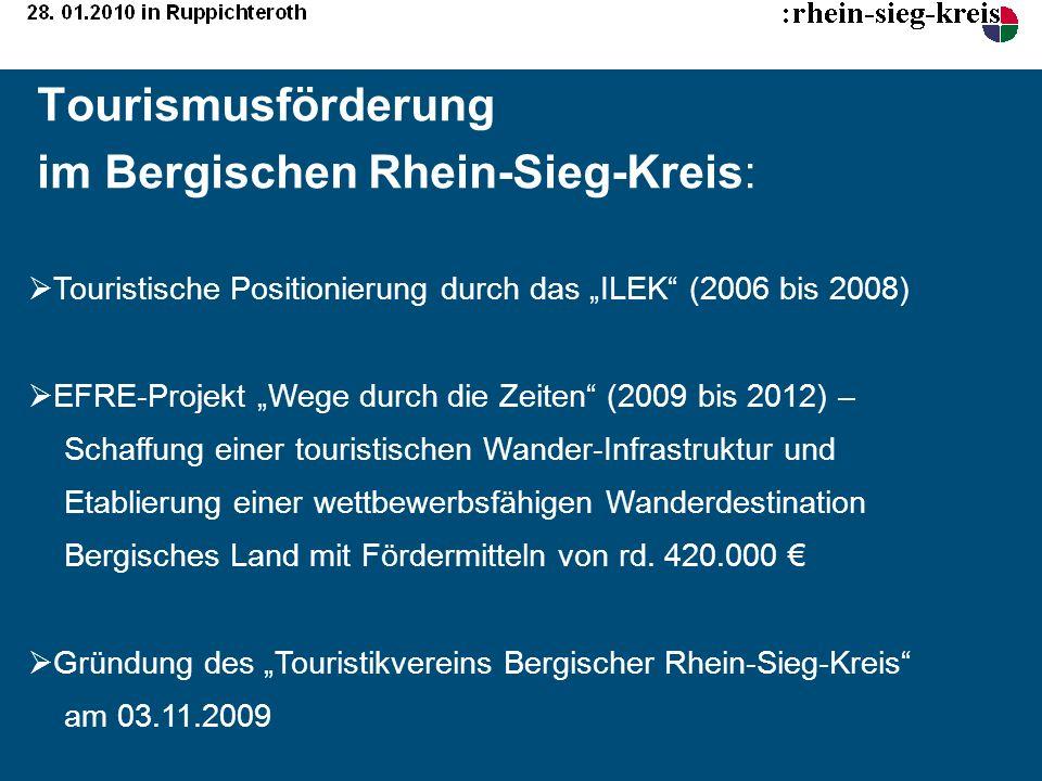 Tourismusförderung im Bergischen Rhein-Sieg-Kreis: