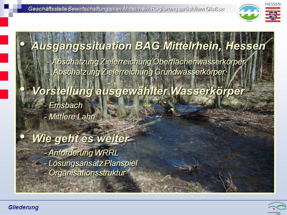 Ausgangssituation BAG Mittelrhein, Hessen