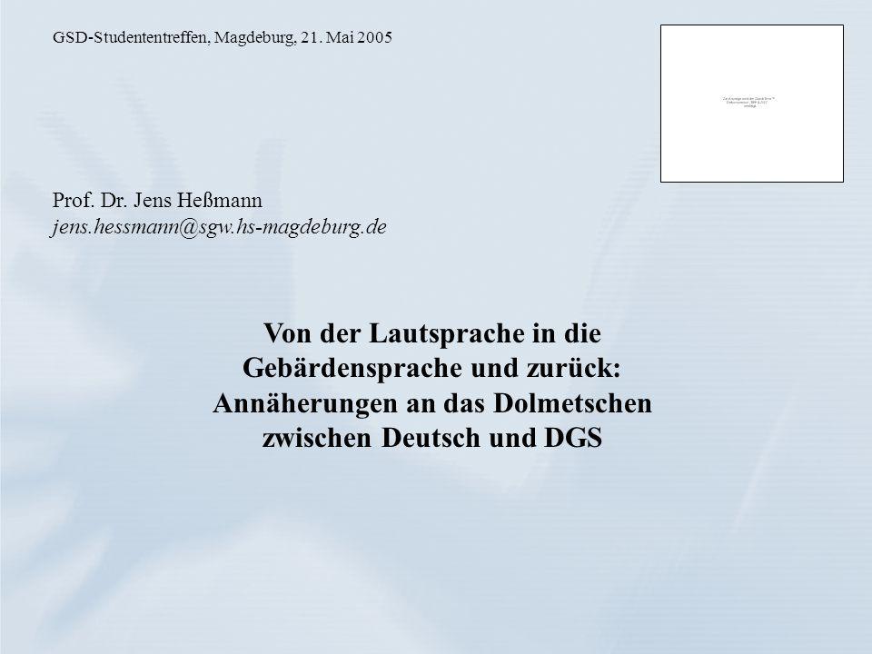 GSD-Studententreffen, Magdeburg, 21. Mai 2005