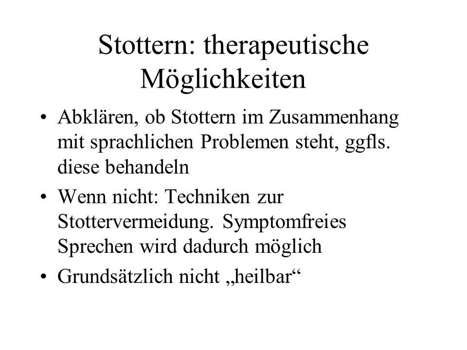 Stottern: therapeutische Möglichkeiten