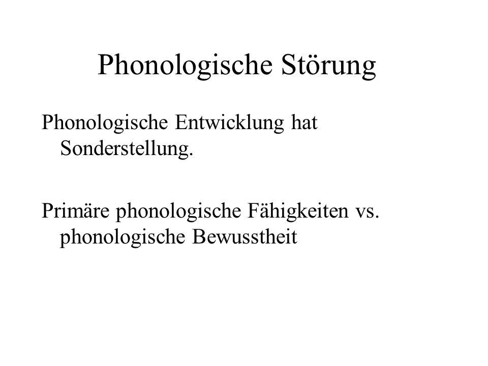 Phonologische Störung