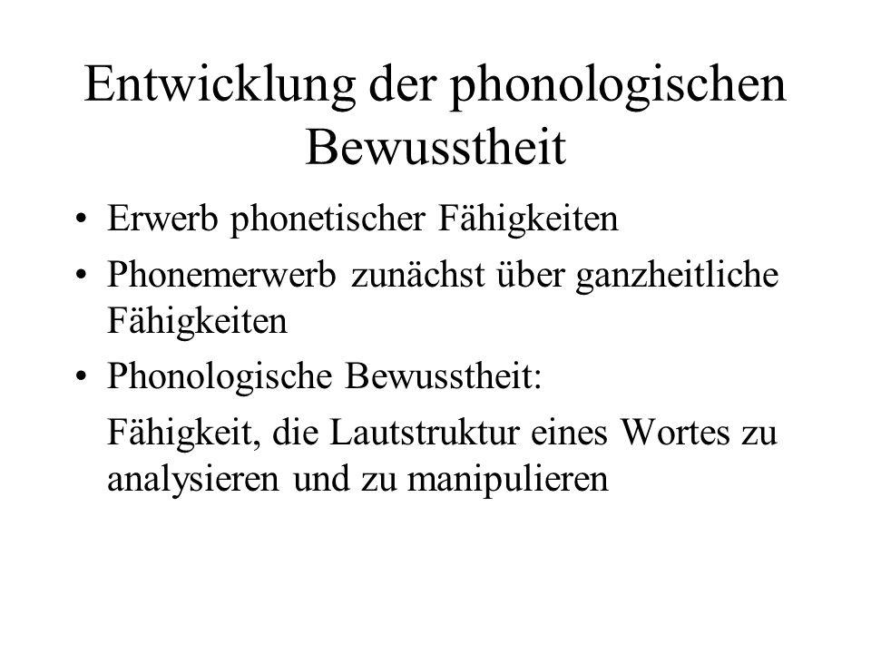 Entwicklung der phonologischen Bewusstheit