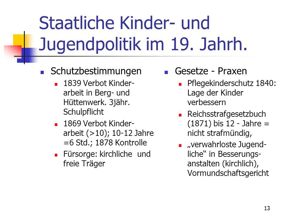 Staatliche Kinder- und Jugendpolitik im 19. Jahrh.