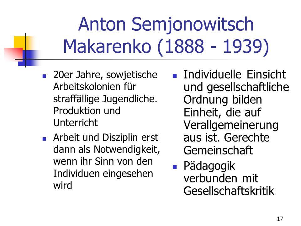 Anton Semjonowitsch Makarenko (1888 - 1939)