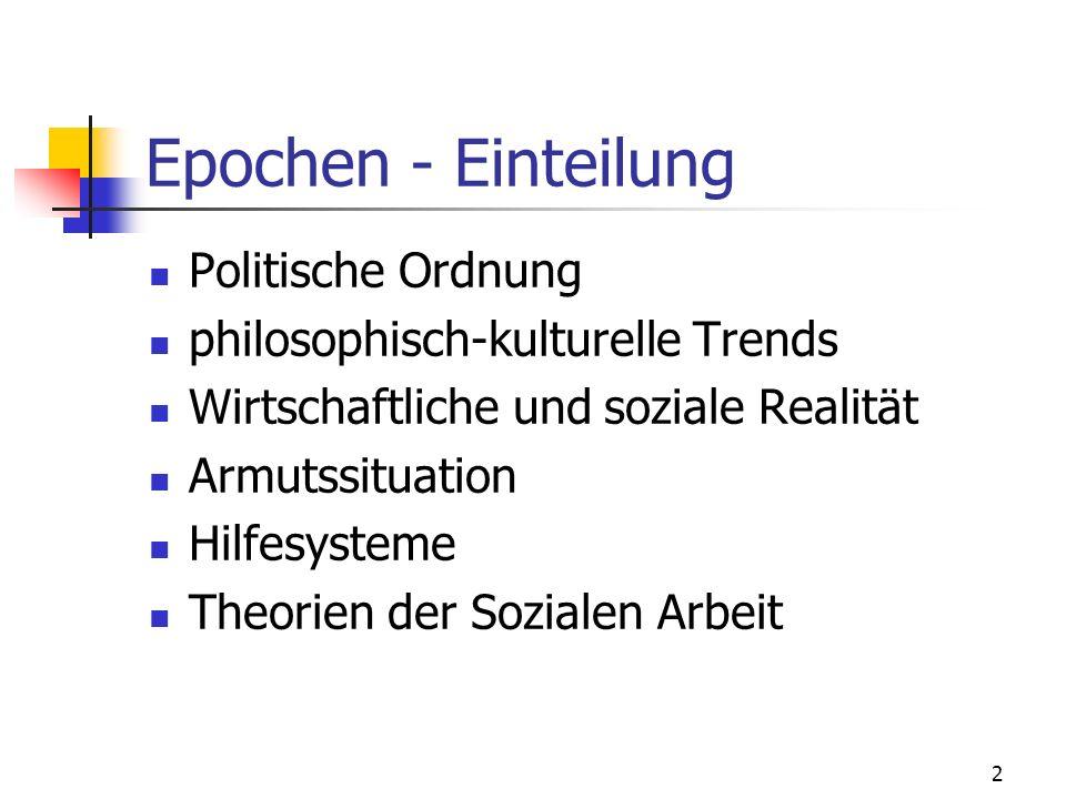 Epochen - Einteilung Politische Ordnung