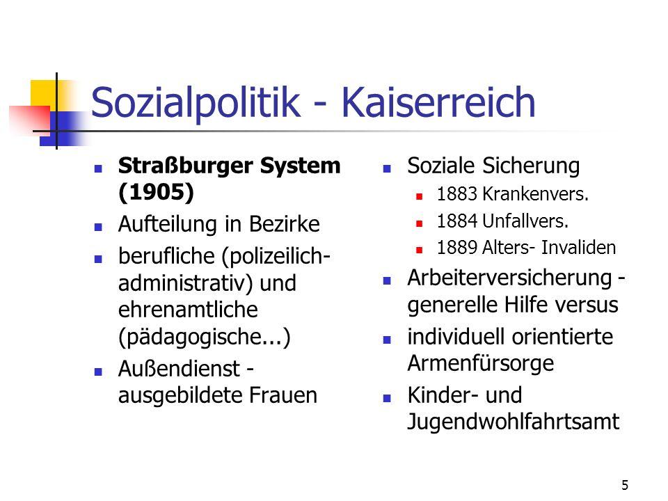 Sozialpolitik - Kaiserreich