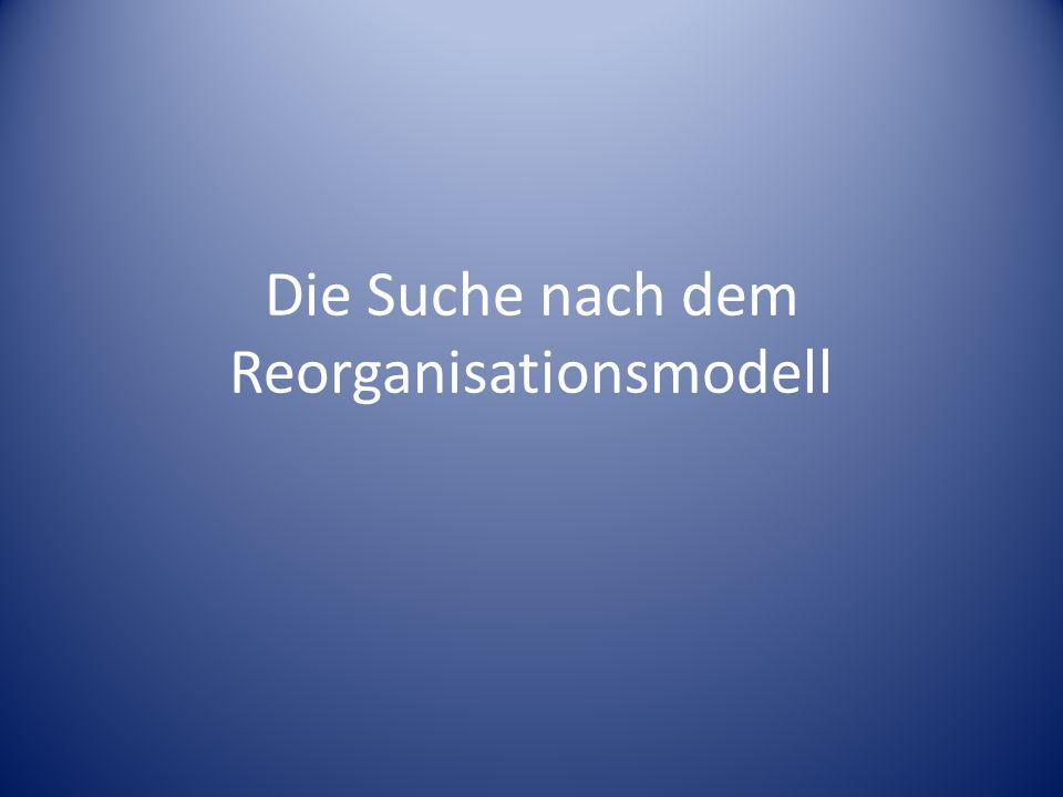 Die Suche nach dem Reorganisationsmodell