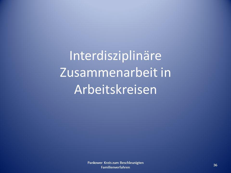 Interdisziplinäre Zusammenarbeit in Arbeitskreisen