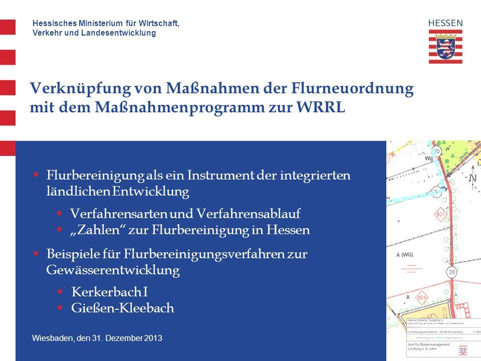Verknüpfung von Maßnahmen der Flurneuordnung mit dem Maßnahmenprogramm zur WRRL