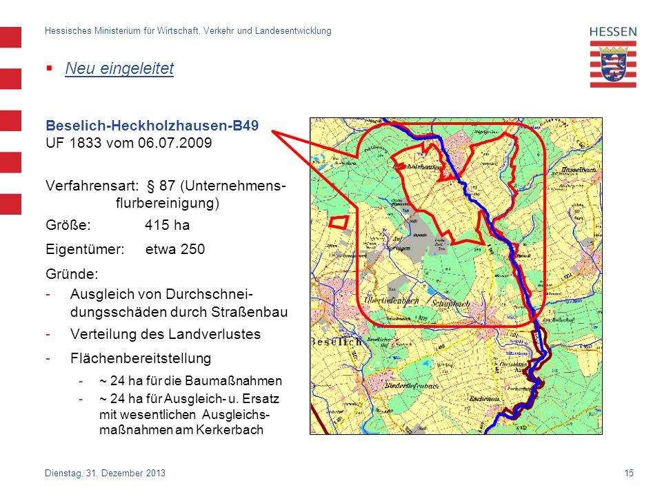 Neu eingeleitet Beselich-Heckholzhausen-B49 UF 1833 vom 06.07.2009