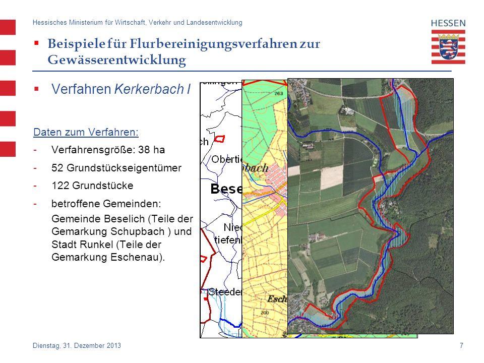 Beispiele für Flurbereinigungsverfahren zur Gewässerentwicklung