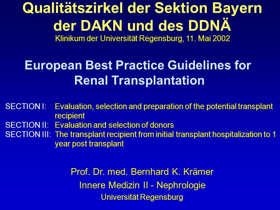 Qualitätszirkel der Sektion Bayern der DAKN und des DDNÄ