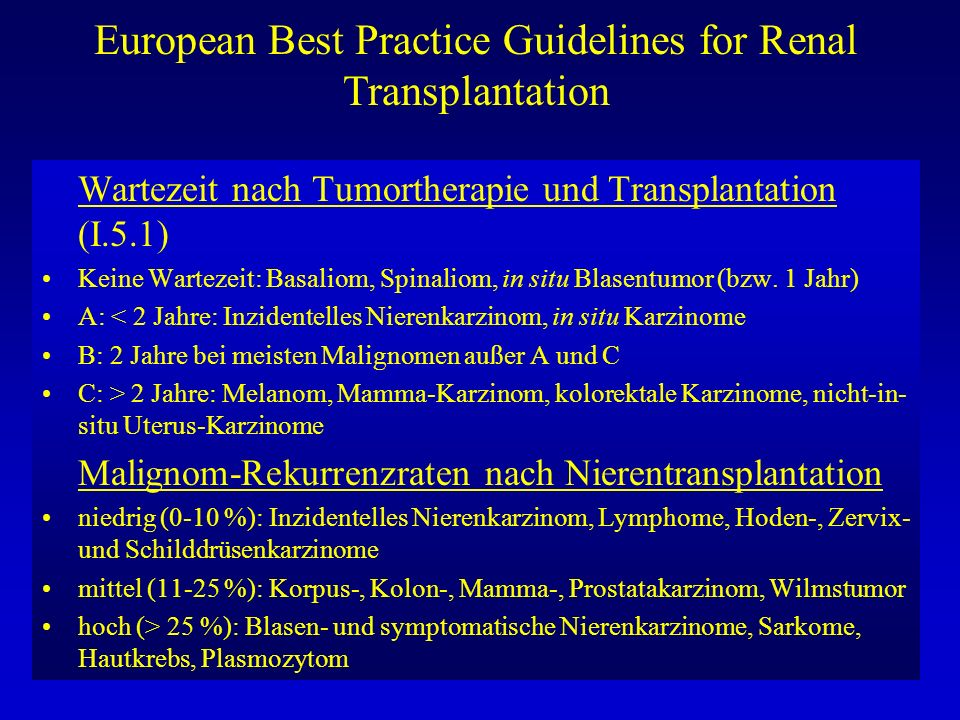 European Best Practice Guidelines for Renal Transplantation