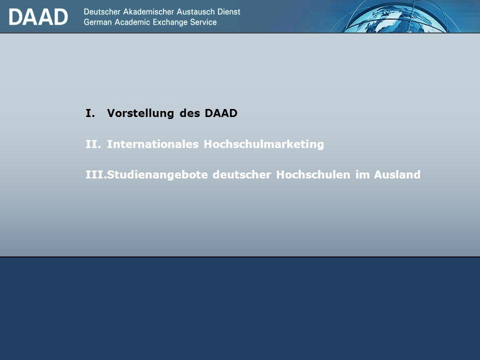 Vorstellung des DAAD Internationales Hochschulmarketing.