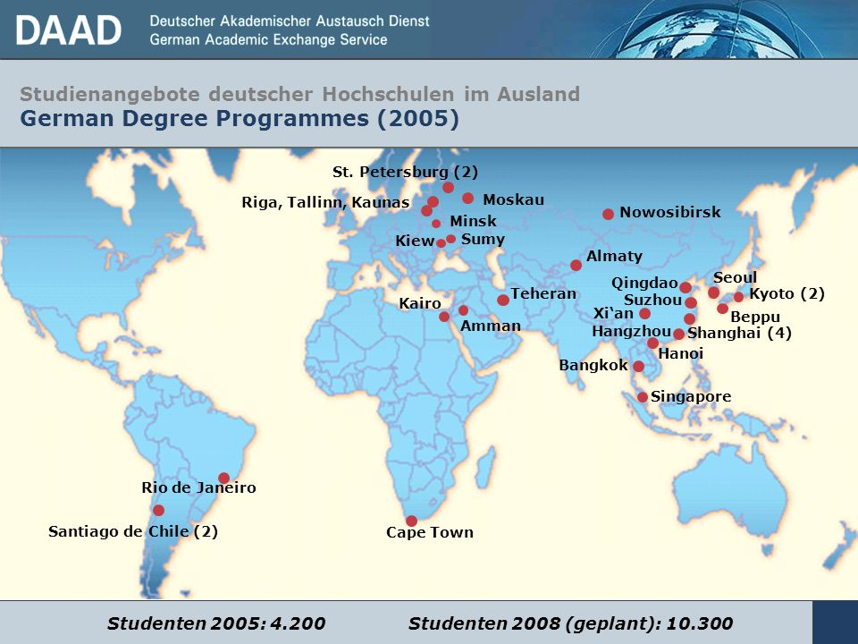 Studienangebote deutscher Hochschulen im Ausland German Degree Programmes (2005)