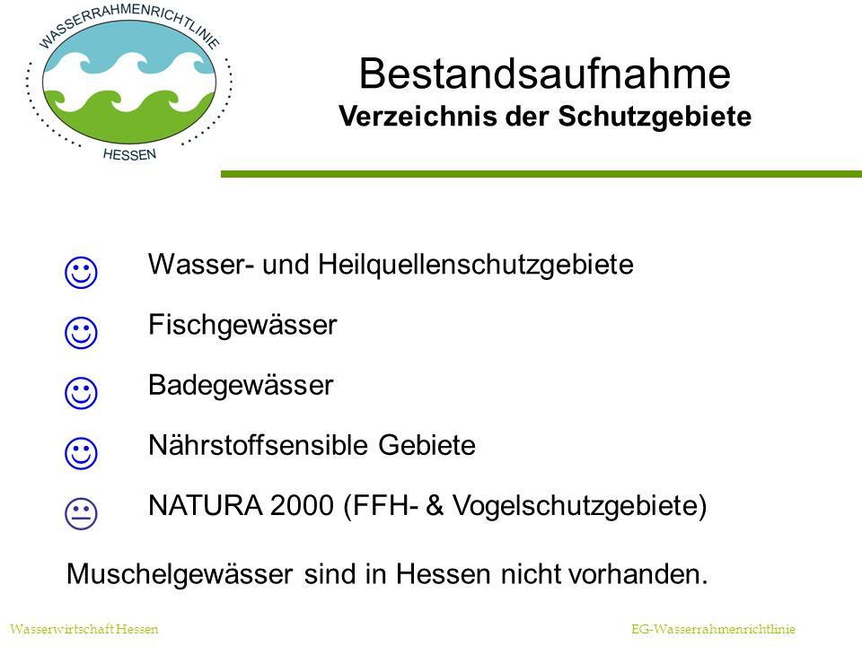 Verzeichnis der Schutzgebiete