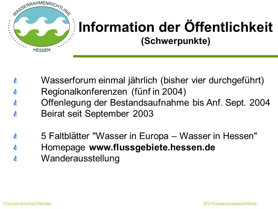 Information der Öffentlichkeit