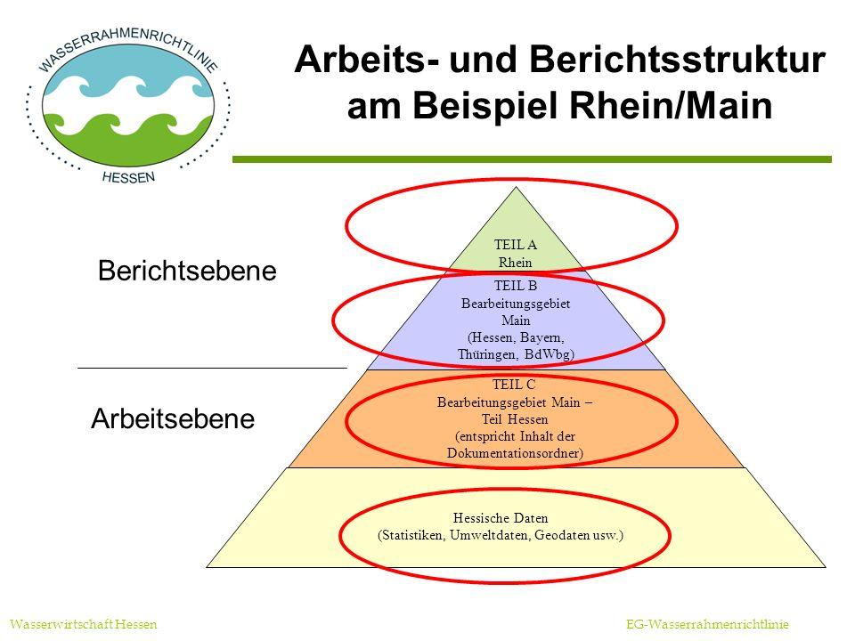 Arbeits- und Berichtsstruktur am Beispiel Rhein/Main