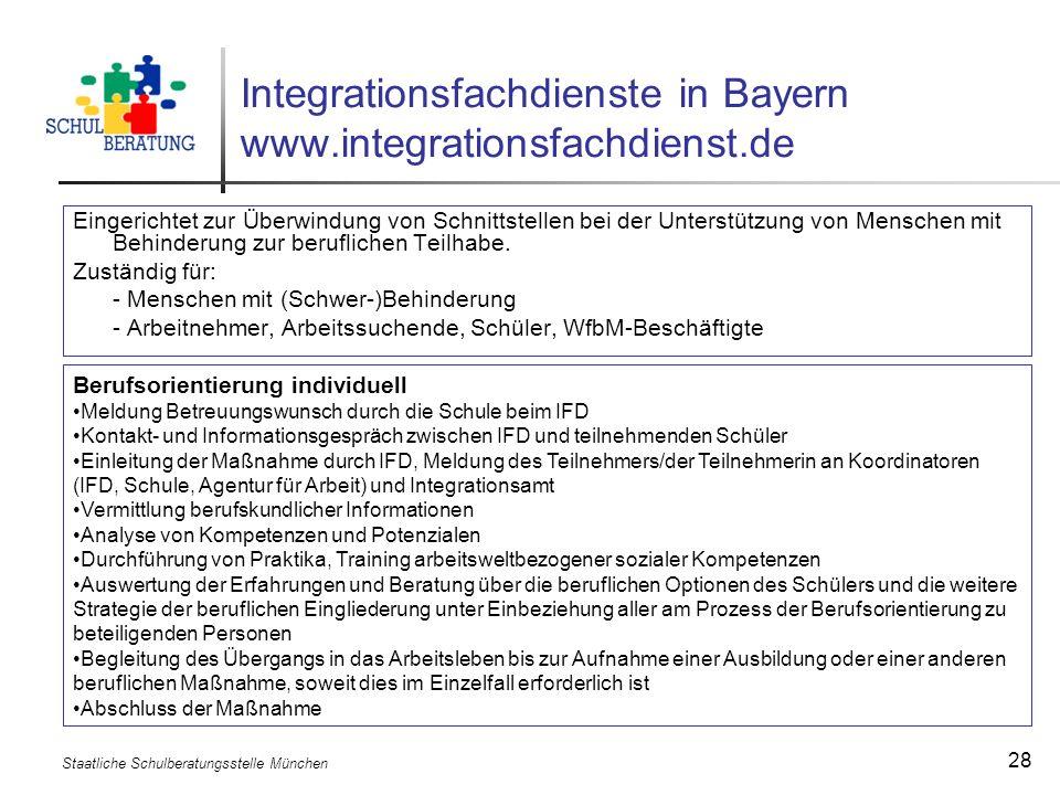 Integrationsfachdienste in Bayern www.integrationsfachdienst.de