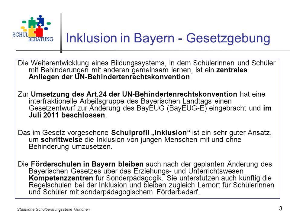Inklusion in Bayern - Gesetzgebung