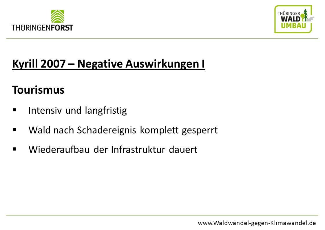 Kyrill 2007 – Negative Auswirkungen I Tourismus