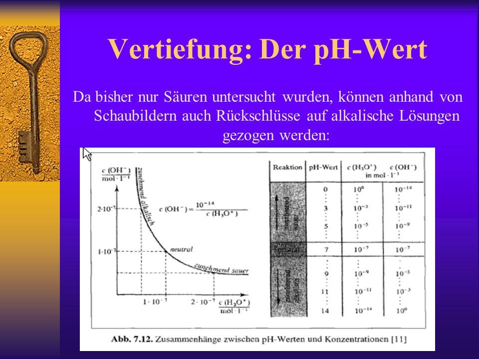 Vertiefung: Der pH-Wert