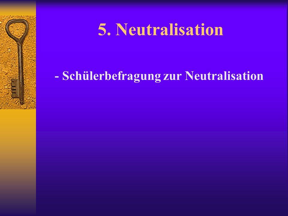 - Schülerbefragung zur Neutralisation
