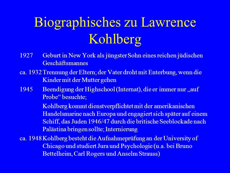 Biographisches zu Lawrence Kohlberg
