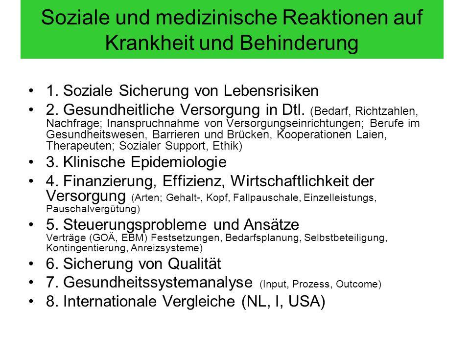 Soziale und medizinische Reaktionen auf Krankheit und Behinderung