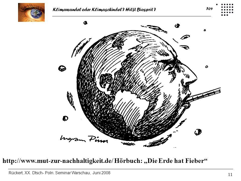 """http://www.mut-zur-nachhaltigkeit.de/ Hörbuch: """"Die Erde hat Fieber"""