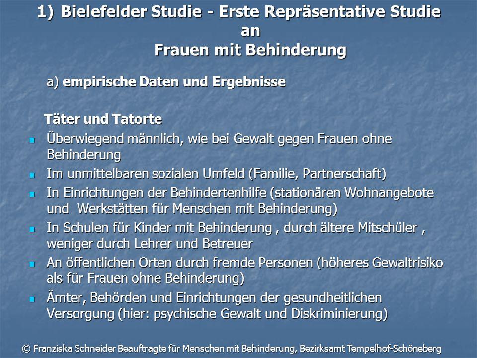 Bielefelder Studie - Erste Repräsentative Studie an Frauen mit Behinderung