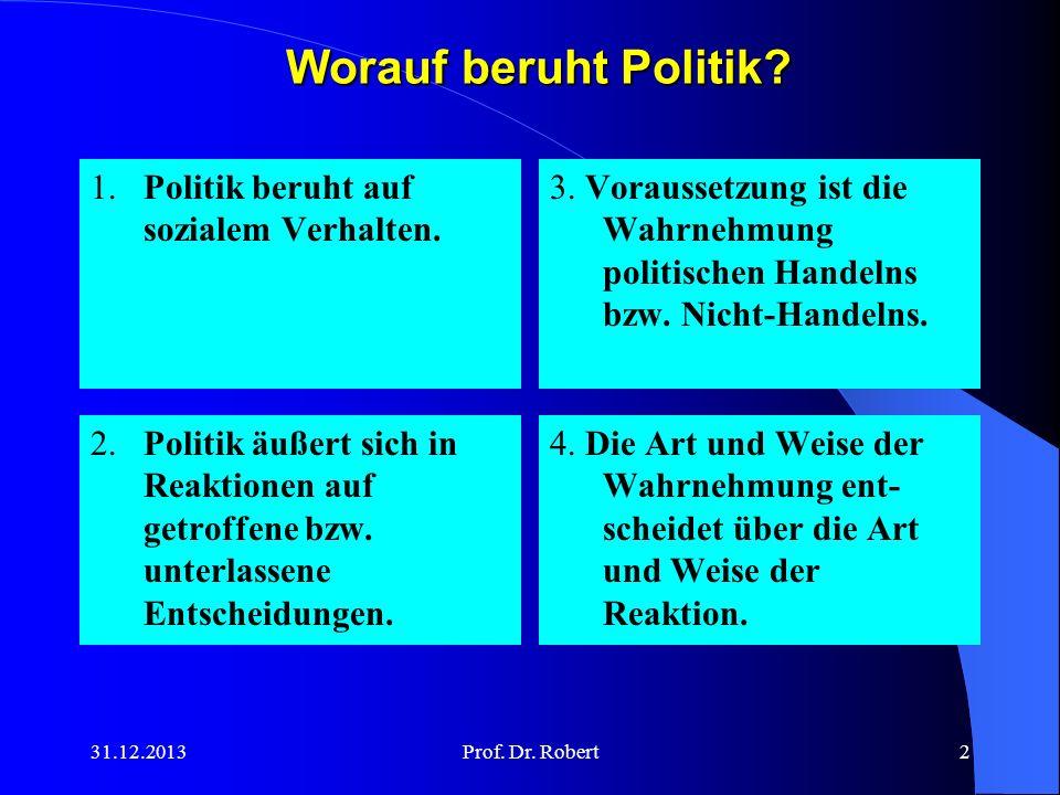 Worauf beruht Politik 1. Politik beruht auf sozialem Verhalten.