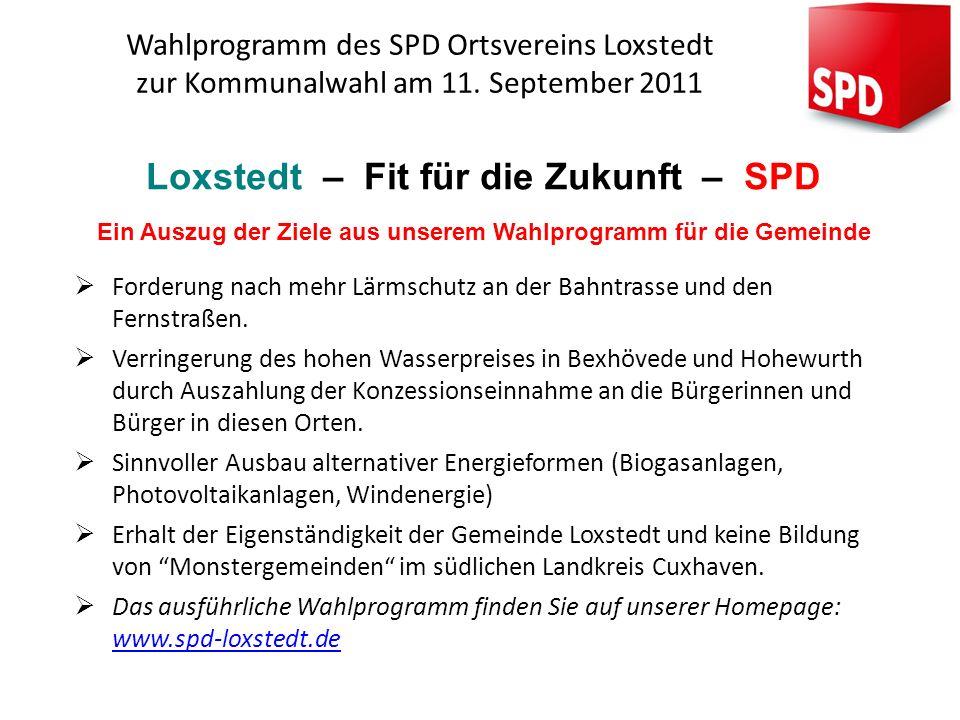 Loxstedt – Fit für die Zukunft – SPD