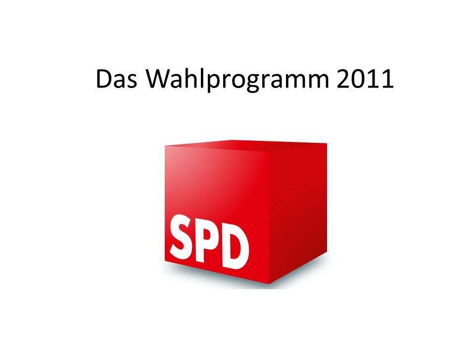 Das Wahlprogramm 2011