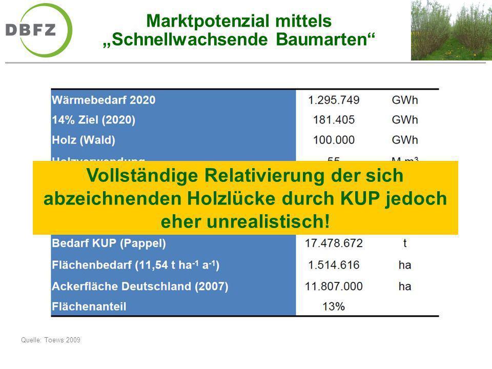 """Marktpotenzial mittels """"Schnellwachsende Baumarten"""