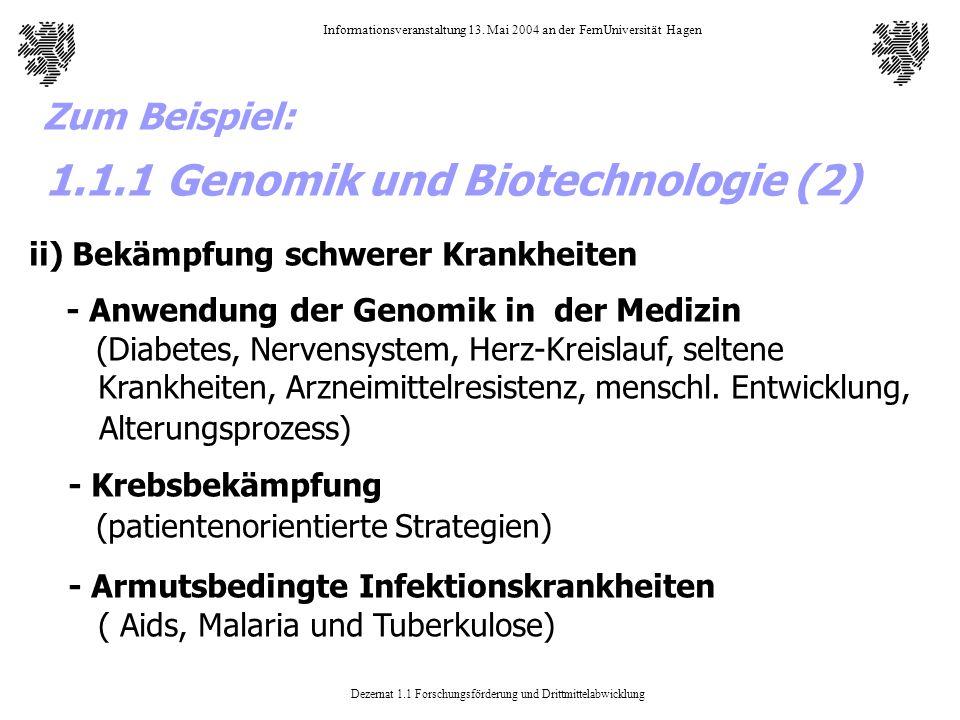 1.1.1 Genomik und Biotechnologie (2)