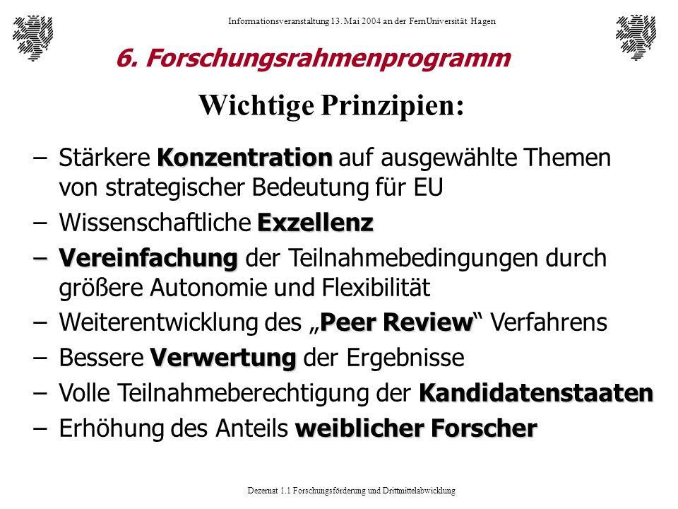 6. Forschungsrahmenprogramm
