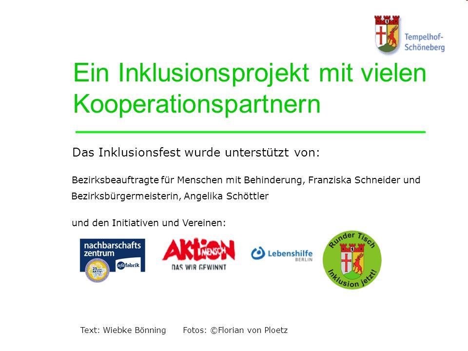 Ein Inklusionsprojekt mit vielen Kooperationspartnern