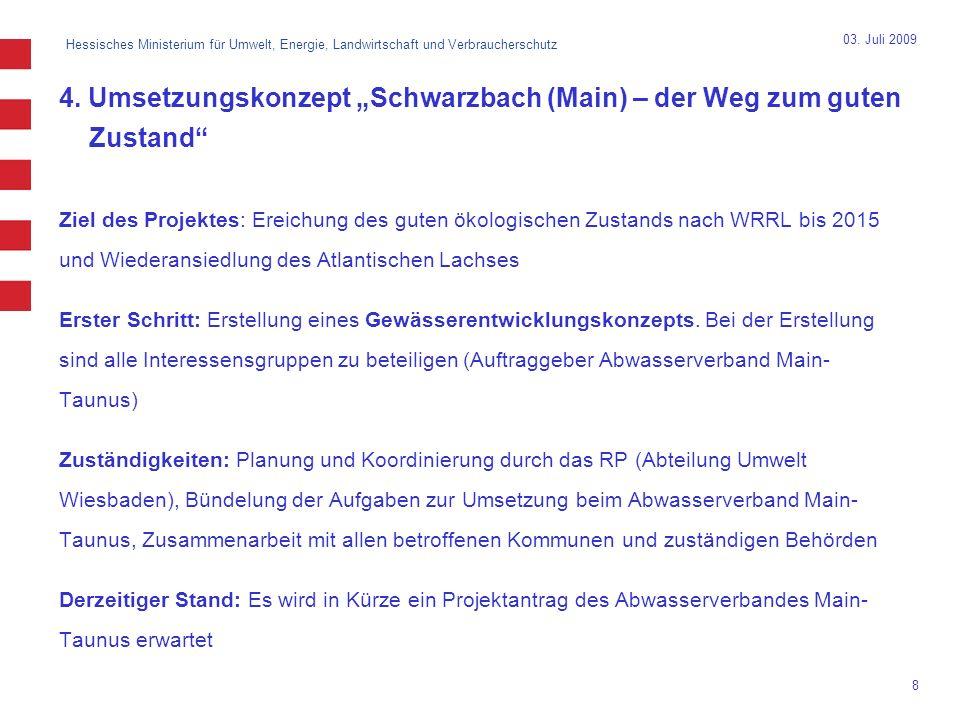 """4. Umsetzungskonzept """"Schwarzbach (Main) – der Weg zum guten Zustand"""
