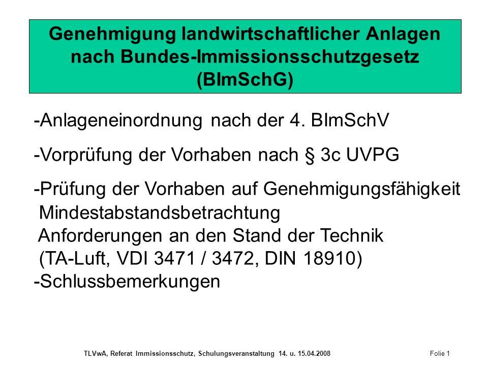 -Anlageneinordnung nach der 4. BImSchV