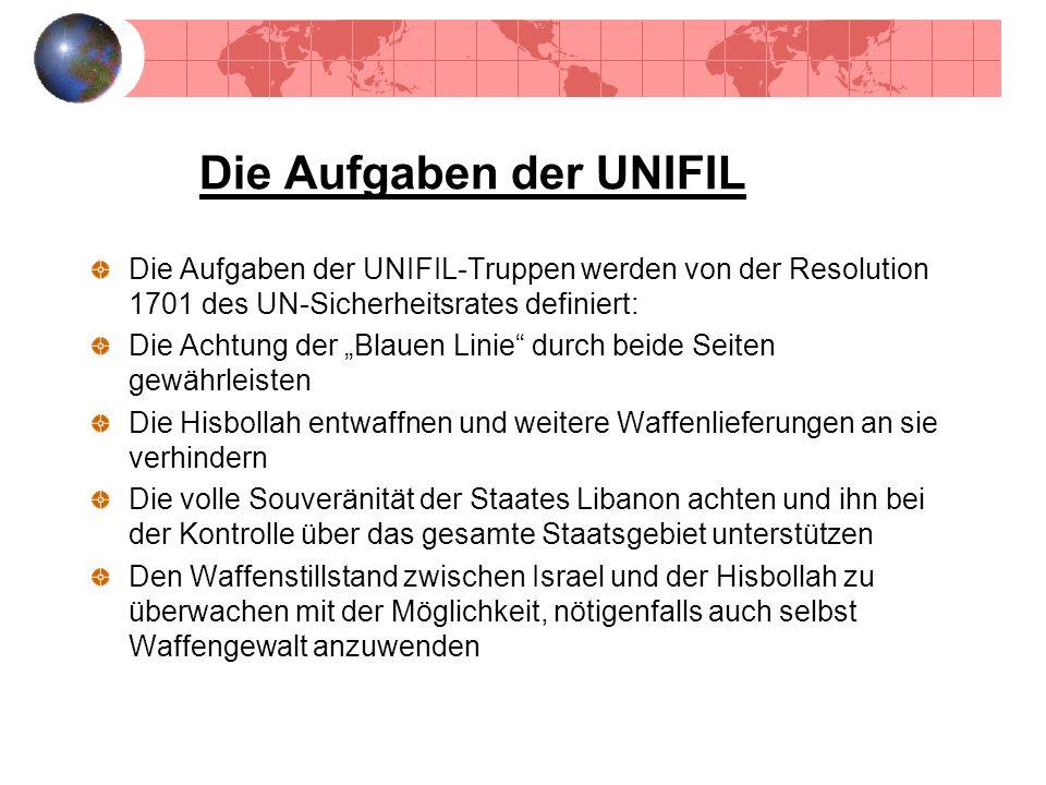 Die Aufgaben der UNIFIL