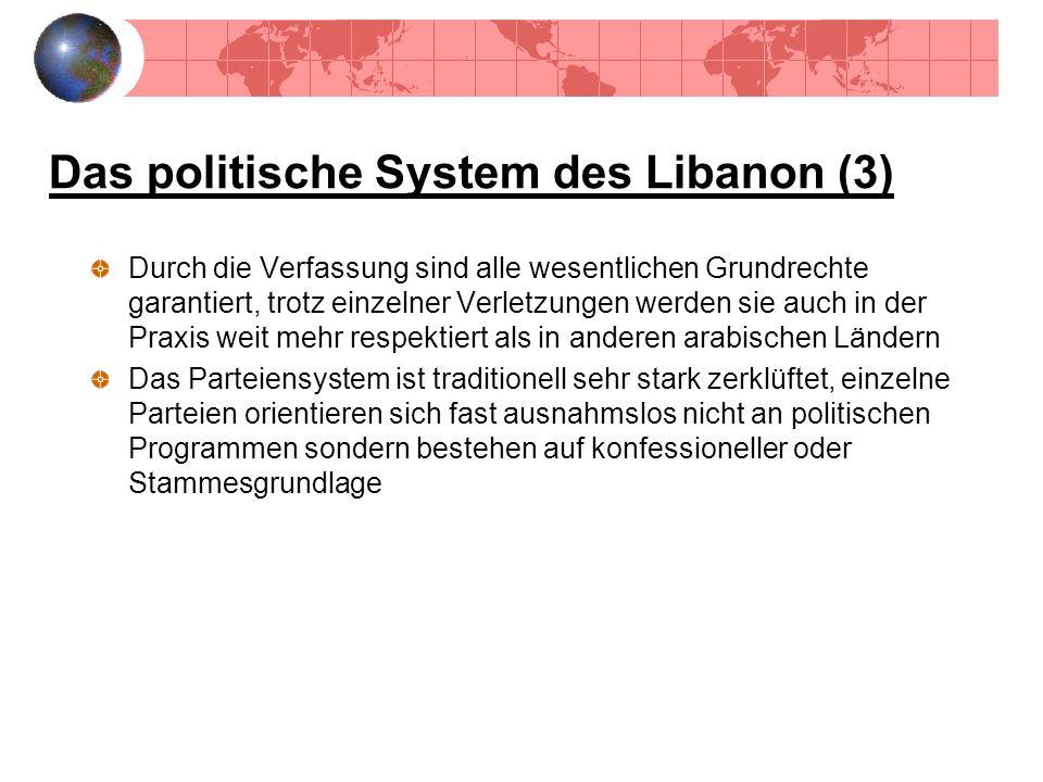 Das politische System des Libanon (3)