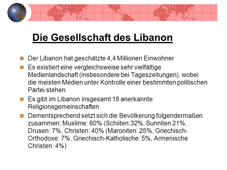 Die Gesellschaft des Libanon