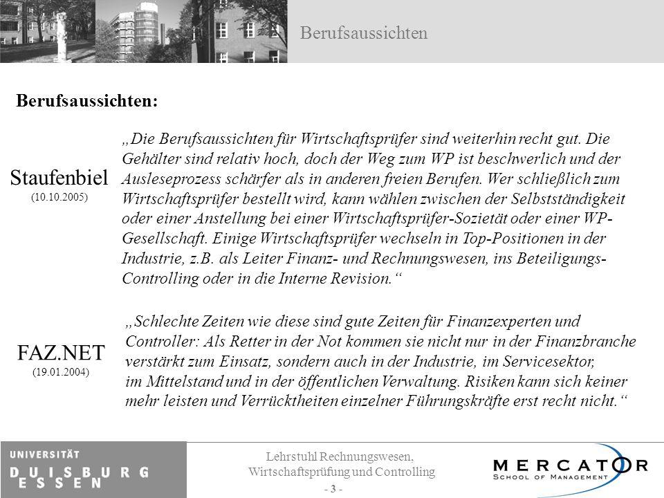 Staufenbiel FAZ.NET Berufsaussichten Berufsaussichten: