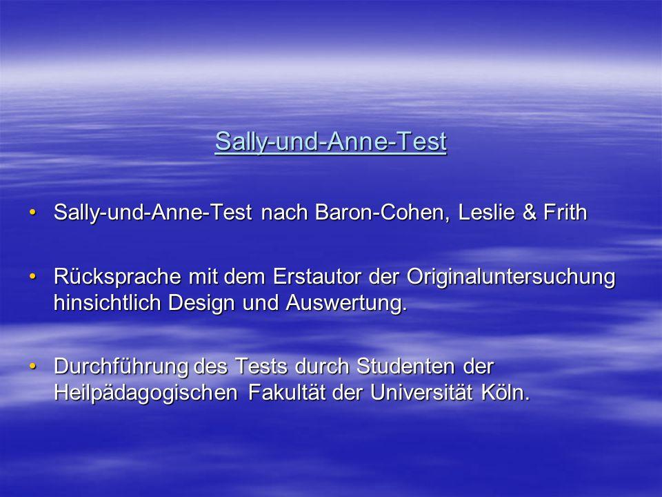 Sally-und-Anne-Test Sally-und-Anne-Test nach Baron-Cohen, Leslie & Frith.