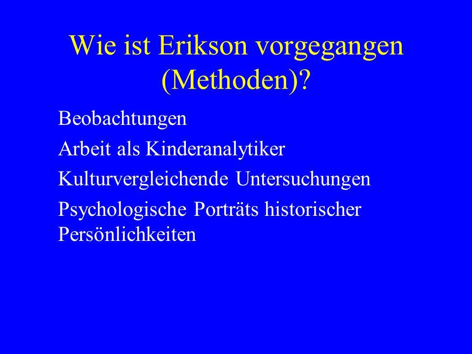 Wie ist Erikson vorgegangen (Methoden)