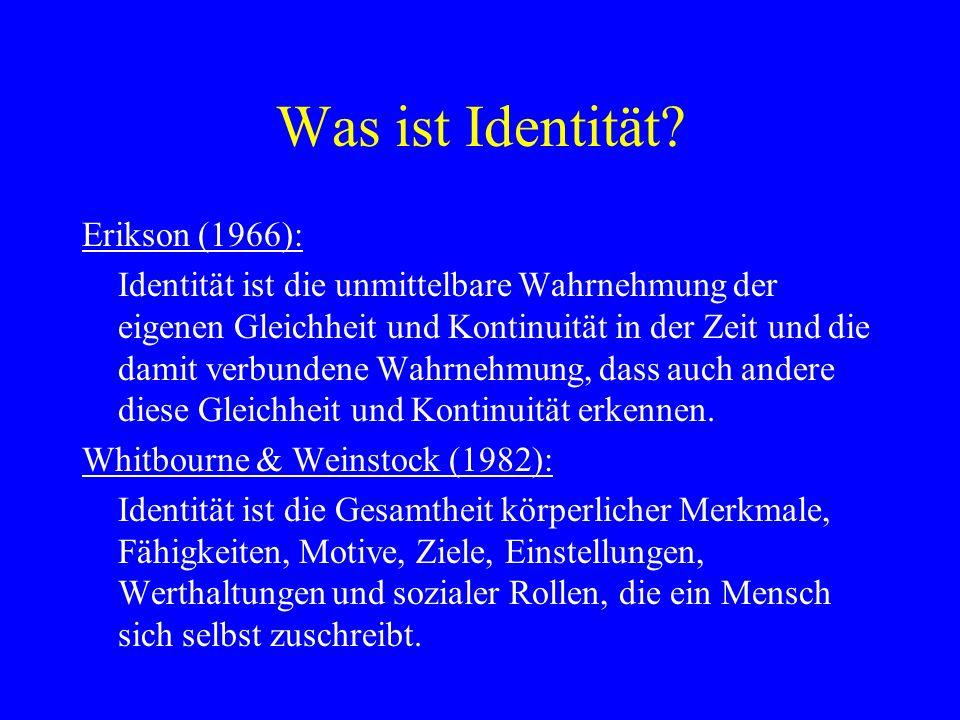 Was ist Identität Erikson (1966):